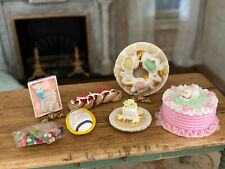 Vintage Miniature Dollhouse Artisan Collection Hand Sculpted Easter Sweets Cakes