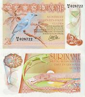 Suriname Banknote 2.5 Gulden 1985 P119 Papiergeld aus Südamerik Kassenfrisch UNC