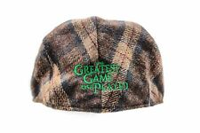 Genuine Disney The Greatest Game Ever Played Brown Plaid Small Newspaper Boy Hat