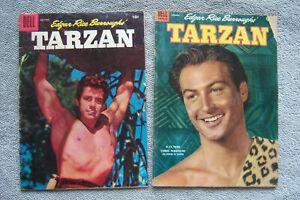 TWO TARZAN COMICS DELL 52 86 Lex Barker Gordon Scott Jesse Marsh