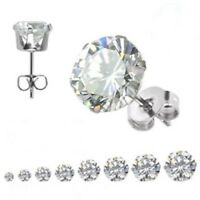Hypoallergenic Stud Earrings Select from 8 Sizes Stainless Surgical Steel