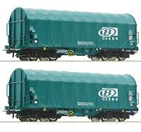 """Roco H0 76071 Schiebeplanenwagen-Set der SNCB / B-Cargo """"Neuheit 2019"""" NEU + OVP"""