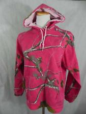 REALTREE women Med Pink Camouflage HOODIE Hooded Sweatshirt Oak Pine Branches s7