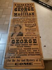 Vintage magic poster. Magician George rare