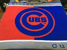 "Vintage NFL Chicago CUBS Biederlack Stadium Blanket Throw Double Sided 44.5x55"""