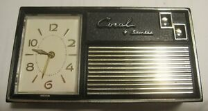 "Vintage ""Coral Starlet"" clock / radio 1960's"