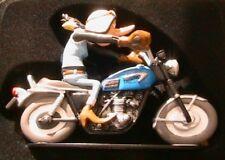 FIGURINE JOE BAR TEAM ZAZA BIKE MOTO TRIUMPH 650 TIGER TR6 C 1/18 RESINE bd