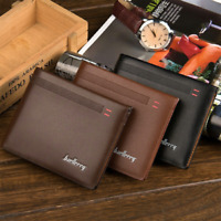 Mens Business Leather Soft Wallet ID Credit Card Holder Purse Coin Pocket Pouch