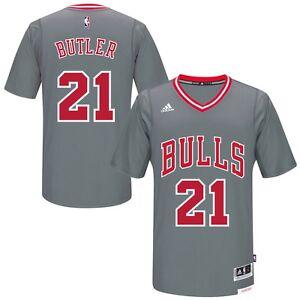 Chicago Bulls Youth Jimmy Butler # 21 adidas Gray Pride Swingman Jersey