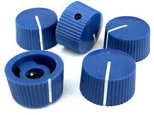 5 Azul 20mm Amplificador De Guitarra Perillas de potenciómetro radio Perilla De Olla + Tornillo