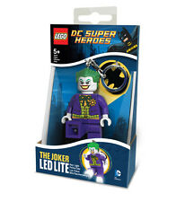 New! LEGO DC Superhero THE JOKER Minifigure Keyring Keychain LED Light Torch