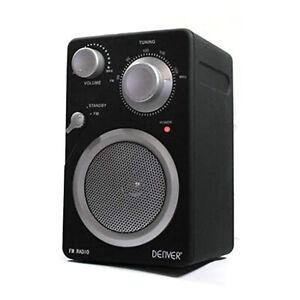 DENVER UKW Radio TR-43 AUX-In Anschluss Batterie- und Netzbetrieb schwarz NEU