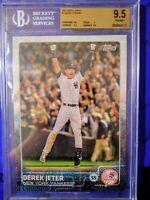 """2015 Derek JETER #/99 BGS 9.5 Topps #1 """"Jumbo"""" 5x7 (New York Yankees)"""