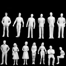 100 pcs Model Train White People Passengers Figures Set HO Scale 1:75 Miniature