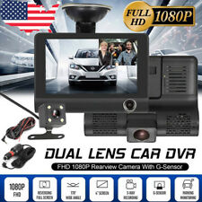 4'' Hd 1080P 3 Lens Car Dvr Dash Cam Vehicle Video Recorder Rearview Camera Sale