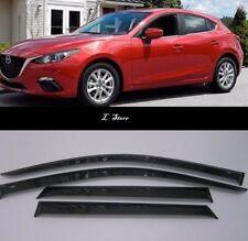 Side Window Visors Sun Guard Vent Deflectors for Mazda 3 2013-2018 Sd/Hb