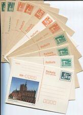DDR 1982/90 Postkarten P 84- P 92 komplett ungebraucht sehr gut erhalten(B07849)