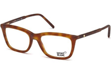 Authentic MONT BLANC Geometric 0553 - 053 Eyeglasses Light Havana *NEW* 53mm