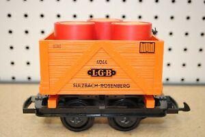 LGB 4044 FRR High-Sided Orange Gondola Car w/Shell Barrels *G-Scale*