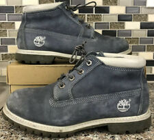 Timberland Blue White Suede Lace Up Ankle Boots Winter Hiking 27352 9 M Women's