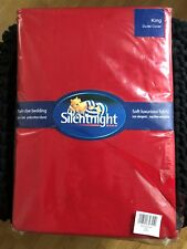 Red Cotton Supersoft Silentnight Luxury Collection Single Duvet Cover Brand New