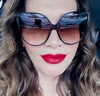 Oversized Cat Eye Linda LUX Big WaYfe Large Women XL Fashion Sunglasses 7468 IT