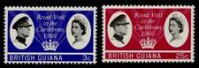 British Guiana 299-300 MNH Queen Elizabeth Royal Visit