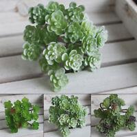 24 Heads Mini Artificial Succulents Plants Fake Bonsai Home Garden Decoration