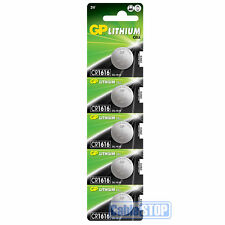 5 x GP CR1616 3V Lithium Button Battery Coin Cell DL1616 for Car Key Fob 2027