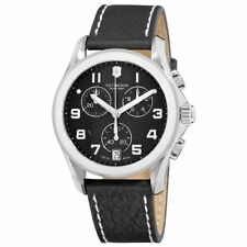Victorinox Swiss Army Men's Classic Chrono Leather Band Quartz 100M Watch 241501