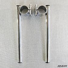 41mm Chrome Clip On Handlebars Motorcycle Triumph Cafe Racer 7/8  clipons 41 mm