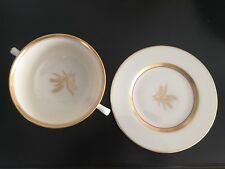 Westfield by Lenox R-440 Cream Soup Cup & Saucer with Gold Trim (Gold Stamp)