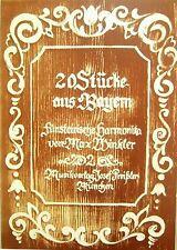 Steirische Harmonika Noten : 20 Stücke aus Bayern 2 -  GRIFFSCHRIFT  mittel