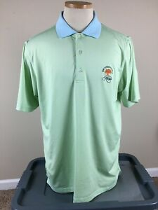 F&G Fairway Greene Tech KIAWAH OCEAN COURSE Golf Polo Shirt Men's Size M