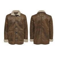 Only & Sons Mens Big Size Jackets Casual Long Sleeve Designer Winter Coats