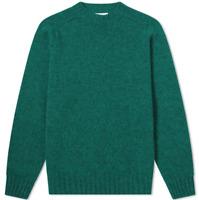 Albam Seamless Shetland UK XS Crew Knit Peacock Blue Comfort Shirt *REF169