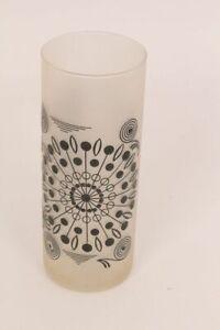 Flower Vase Table Vase Glass Vase Frosted Glass Coloured Pattern Black Cylinder