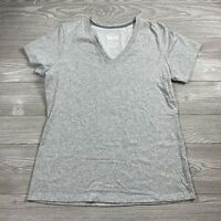 Nike Dri-Fit Women's Athletic Short Sleeve V-neck Tee Shirt Gray Size XL Dd21