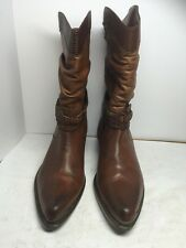 women's MOBILITY Western Style brown leather mid-calf boots US size 7