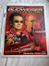 Signed Kenny Bernstein Budweiser Top Fuel Dragster NHRA Photo Card 8 x 10 N382