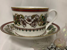 Spode Christmas Tree Rose Cup/Saucer**NEW**Auth. Dealer Inv.