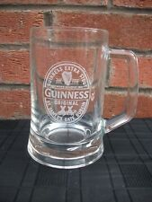 """Guinness Pint Glass Tankard Heavy ,Hard to find 6"""" tall,official guinness and co"""