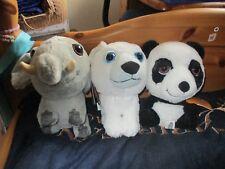 Penny Treuepunkte Abenteuer-Bande 3 Plüschtiere Elefant Panda & Eisbär