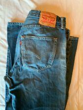 LEVI 501 Mens Blue, Red Tab Denim Jeans 501 W32 L30