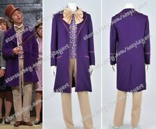 Charlie And The Chocolate Factory Cosplay Willy Wonka Whole Costume Purple Coat