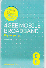 EE 4G SIM 6GB Data SIM Ready-to-go Mobile Broadband iPad,Tablet,Wi-Fi devices