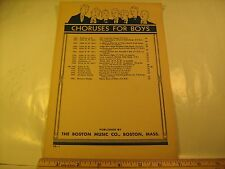 Vintage Sheet Music SONG OF THE BUCCANEERS 1934 Choruses for Boys [Z23c]