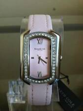 NIB KENNETH COLE New York Crystal Accented Pink Leather Ladies Watch