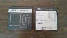NEW Crucial CTSSDINSTALLAC SSD Install Kit Drive Bay Adapter Desktop 2.5in