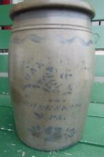 HAMILTON & JONES COBALT BLUE GREENSBORO PA 2 GAL PRIMITIVE STONEWARE CROCK
